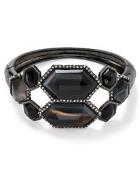 Alexis Bittar | Pavo Mirrored Black Banded Agate Hinge Bangle | Lyst