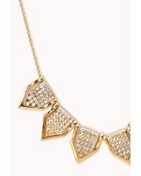 Forever 21 - Metallic Touch Of Glam Geo Necklace - Lyst