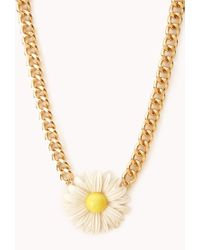 Forever 21 - Metallic Sweet Daisy Necklace - Lyst
