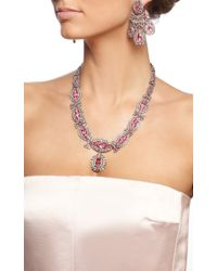 Simon Teakle - Pink Georgian Paste Parure Necklace Drop Earrings and Two Brooches - Lyst
