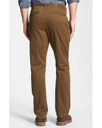 Thomas Dean | Natural Classic Fit Cotton Twill Pants for Men | Lyst