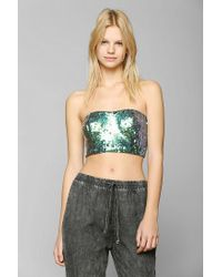 Urban Outfitters | Black Kimchi Blue Giselle Sequin Bra Top | Lyst