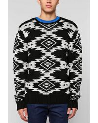 Urban Outfitters - Black The Narrows Diamond Sweater for Men - Lyst