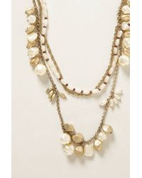 Anthropologie - White Ringing Rock Layered Necklace - Lyst