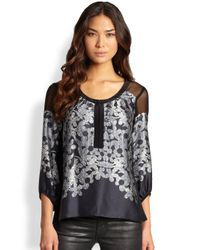 Nanette Lepore | Black Night Glow Top | Lyst
