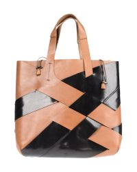 Vic Matié - Black Large Leather Bag - Lyst