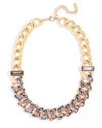 BaubleBar - Metallic Smoky Marquise Curb Collar - Lyst