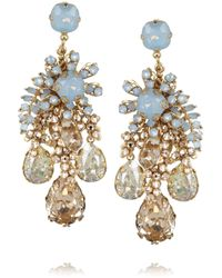 Bijoux Heart - Metallic Forget Me Not Goldplated Swarovski Crystal Earrings - Lyst