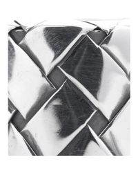 Bottega Veneta   Metallic Silver Intrecciato Ring   Lyst