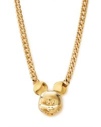 Forever 21 | Metallic Street Chic Mickey Mouse Necklace | Lyst
