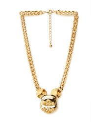 Forever 21 - Metallic Street Chic Mickey Mouse Necklace - Lyst