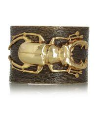 Iam By Ileana Makri - Metallic Beetle Goldplated Oxidized Brass Cuff - Lyst