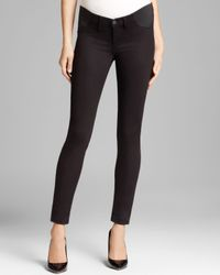 J Brand - Maternity Jeans Luxe Sateen Mama J Rail in Black - Lyst
