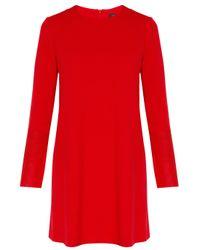 JOSEPH | Red Wool Ls Dress Wlthr Cuff | Lyst