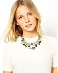 ASOS - Yellow Love Rocks Burst Chain Collar Necklace - Lyst