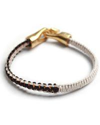 Lulu Frost - Black George Frost Braided Harpoon Bracelet Whtblk and Brass for Men - Lyst