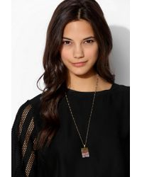 Urban Outfitters - Purple Jessica Decarlo Amethyst Slice Necklace - Lyst