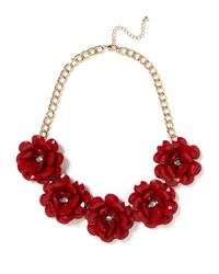 BaubleBar | Red Jumbo Bloom Bib | Lyst