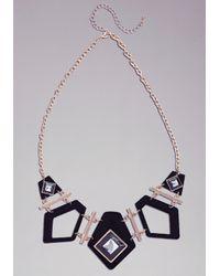 Bebe - Black Nouveau Art Deco Necklace - Lyst