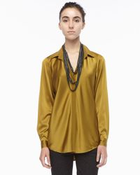 Eileen Fisher - Black Beaded Crochet Necklace - Lyst