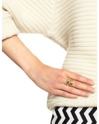 Estelle Dévé | Metallic Gold Plated Nefertiti Ring Set | Lyst