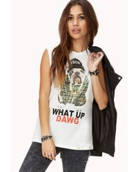 Forever 21 - White What Up Dawg Muscle Tee - Lyst