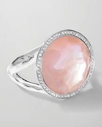 Ippolita | Stella Lollipop Ring in Pink Motherofpearl Doublet with Diamonds 023 | Lyst