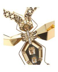Lanvin - Metallic Luisa Embellished Necklace - Lyst