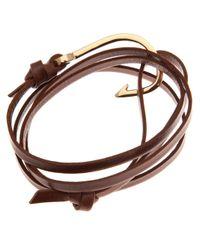 Miansai | Brown Leather Hook Bracelet for Men | Lyst