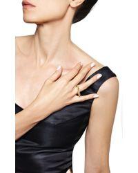 Monique Péan - Metallic White Diamond Elongated Rectangular Ring - Lyst