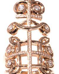 Nikos Koulis   Diamond Pink Gold Cutout Ring   Lyst
