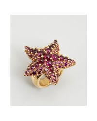 Pomellato - Pink Gold and Amethyst Starfish Estate Ring - Lyst
