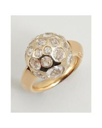 Pomellato | Metallic Gold and Clear Amethyst Multi Stone Ball Estate Ring | Lyst