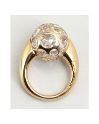 Pomellato - Metallic Gold and Clear Amethyst Multi Stone Ball Estate Ring - Lyst