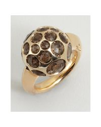 Pomellato | Metallic Gold and Smoky Quartz Multi Stone Ball Estate Ring | Lyst