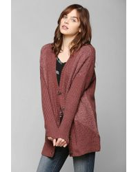 Urban Outfitters | Pink Pins and Needles Cozy Mixedstitch Dolman Cardigan | Lyst