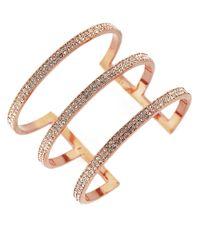 Vince Camuto | Metallic Pavé 3-bar Cuff Bracelet | Lyst