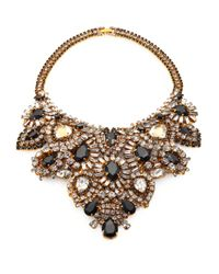Aerin Erickson Beamon | Black Crystal Bib Necklace | Lyst