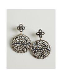 Amrapali - Moonstone and Blue Sapphire Diamond Disk Drop Earrings - Lyst