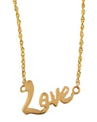 Lana Jewelry | Metallic Mini Love 14K Gold Necklace | Lyst