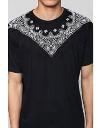 Urban Outfitters | Black Fun Artists Bandana Tee for Men | Lyst