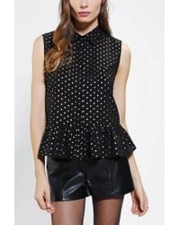 Urban Outfitters - Black Lucca Couture Drop Waist Open Back Blouse - Lyst