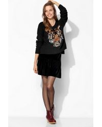 Urban Outfitters - Black Sparkle Fade Sequin Tiger Sweater - Lyst