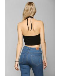Urban Outfitters - Black Truly Madly Deeply Triangle Halter Top - Lyst