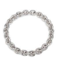 Eddie Borgo | Metallic Pavé Link Necklace/silvertone | Lyst