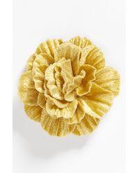 Hook + Albert | Yellow Velvet Flower Lapel Pin | Lyst
