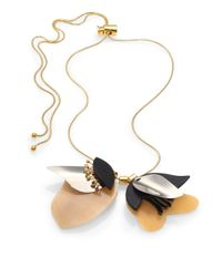 Marni | Metallic Horn Petal Lariat Necklace | Lyst