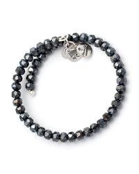 ALEX AND ANI | Gray Vintage 66 Gleam Wrap Bracelet | Lyst