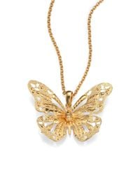 Alexander McQueen | Metallic Butterfly Pendant Necklace | Lyst