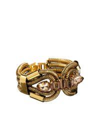ASOS - Metallic Designsix Snake Chain Link Bracelet - Lyst
